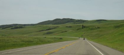 丘陵地の道